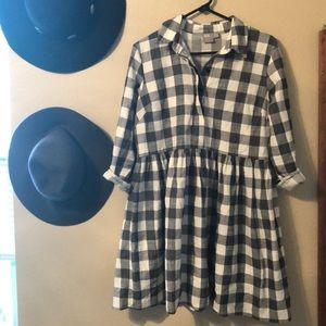 ASOS plaid  babydoll dress